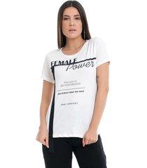 t-shirt pkd concept eco female power off white - kanui