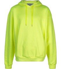 martine rose logo embroidered hoodie - yellow