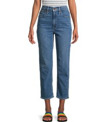 madewell women's classic straight cropped jeans - blue - size 27 (4)