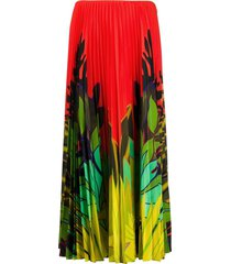 valentino mirrored monkeys forest pleated skirt