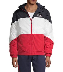 taylor colorblock hooded puff jacket