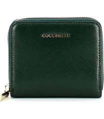 coccinelle womens green wallet