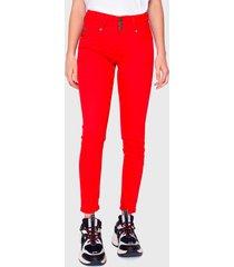 jeans ellus rojo - calce ajustado