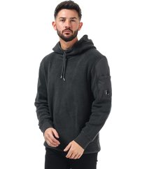 mens sherpa fleece hooded sweatshirt
