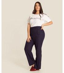 pantalon mujer clasico unicolor tejido plano