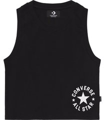 converse camiseta de tirantes star chevron cropped rib black