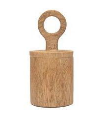 pote decorativo em madeira