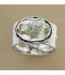 green amethyst oasis ring