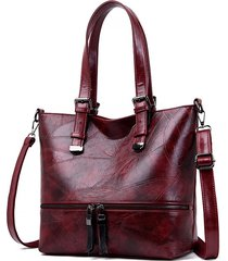 borsa a spalla grande capacità in ecopelle vintage borsa spalla borsa per donna