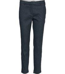 kylie 617 crop pantalon met rechte pijpen blauw fiveunits