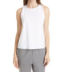 women's eileen fisher slim fit scoop neck tank, size large - white
