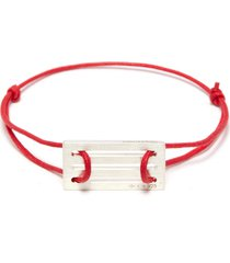 'le 33/10g' silver charm cord bracelet