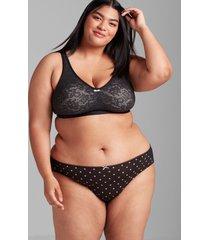 lane bryant women's lace unlined no-wire bra 48d black