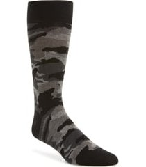 men's cole haan modern camo socks, size one size - black