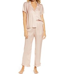 women's saltwater luxe stripe crop pajamas