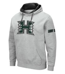 colosseum men's hawaii warriors big logo hoodie