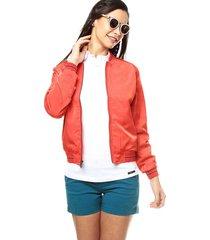 chaqueta bomber para mujer style liq jadeth s3838 - rojo