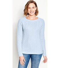cotton cable-stitch sweater, x large
