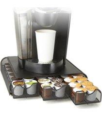 mind reader 36 capacity 'anchor' triple drawer k-cup, dolce gusto, cbtl, verismo, single serve coffee pod holder drawer metal mesh