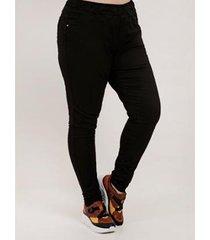 calça cambos plus size jogger sarja feminina - feminino