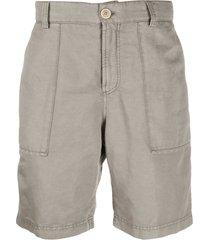 brunello cucinelli vintage wash bermuda shorts - grey