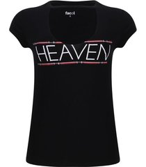 camiseta cuello choker color negro, talla 10