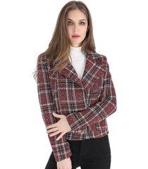 chaqueta cropped tweed burdeos nicopoly