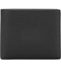 maison margiela men's leather wallet - black