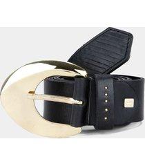 cinturón negro-dorado tannino