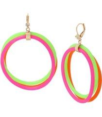 betsey johnson jelly cord gypsy hoop earrings