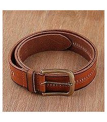 men's leather belt, 'timeless appeal in spice' (india)