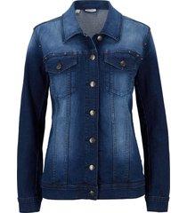 giacca di jeans elasticizzata con borchie (blu) - john baner jeanswear
