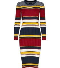 d1. rib knitted dress dresses bodycon dresses multi/mönstrad gant