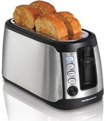 hamilton beach keep warm 4 slice long slot toaster