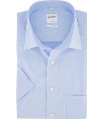 korte mouw overhemd olymp lichtblauw comfort fit