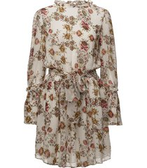 jonquil floral dress kort klänning creme hunkydory