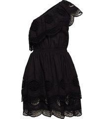 dane off-shoulder dress kort klänning svart designers, remix