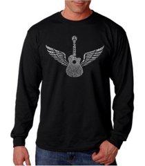 la pop art men's word art long sleeve t-shirt - amazing grace