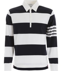 thom browne long-sleeved polo shirt