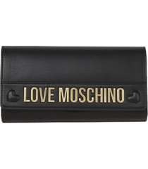love moschino black love moschino ecoleather wallet