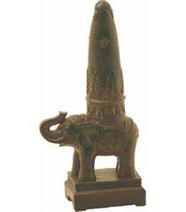 escultura decorativa de resina elefante índia