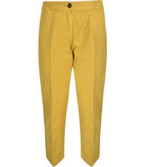 massimo alba ribbed waist cropped trousers