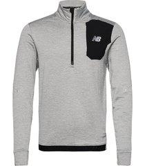 impact run grid back half zip sweat-shirt trui grijs new balance