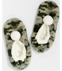 maurices womens green camo slipper socks