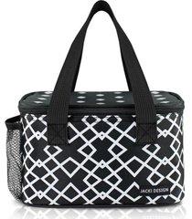 (bella vitta) bolsa térmica com compartimento rede na lateral preto