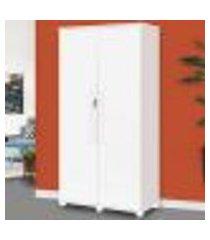 armario multiuso com chave e cabideiro opcional texas branco