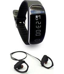 smart bracelet sm35  audífono negro lhotse