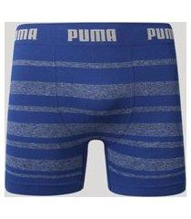 cueca boxer masculina puma listrada sem costura azul marinho