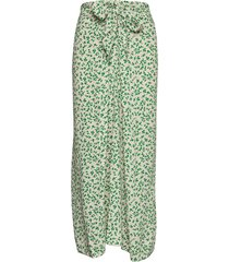 printed crepe knälång kjol grön ganni