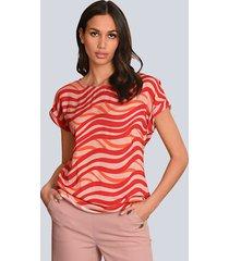 blouse alba moda rood::roze::oranje